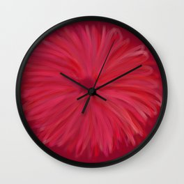 red burst daisy Wall Clock