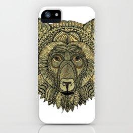 Tangled Bear Golden iPhone Case