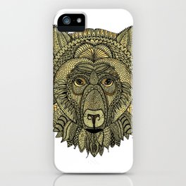 Tangled Bear Golden iPhone Case