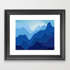Notch Framed Art Print