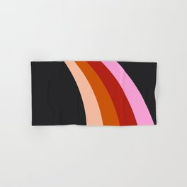 Retro Rainbow Stripes Hand & Bath Towel