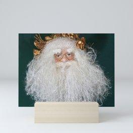 Santa head ornament Mini Art Print