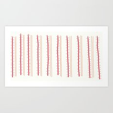 Stripes and Spots Art Print