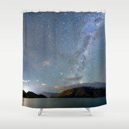 New Zealand Southern Hemisphere Skies Over Lake Wakatipu Shower Curtain
