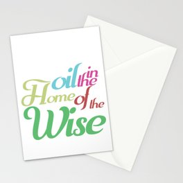 Christian Faith Pastor Preacher Gift There Is Oil In The Home Of A Wise Jesus Believer Stationery Cards