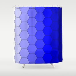 Hexagons (Blue) Shower Curtain