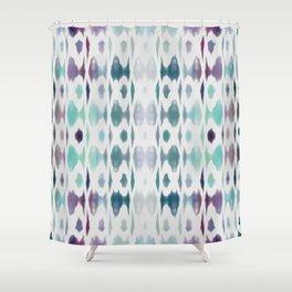 Light As Air Teal Purple Pattern Shower Curtain