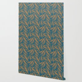 Feathered Leaf Pattern Wallpaper