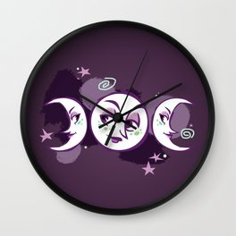 Faces of the Phases Wall Clock