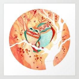 Owlentine Art Print