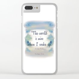 The World is Mine Clear iPhone Case