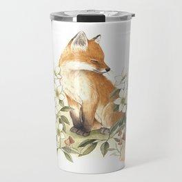 Springtime Fox Travel Mug