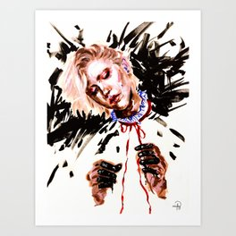 Fool with a Red Ribbon Art Print
