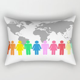 Be Engaged in Sharing the Gospel of Christ Rectangular Pillow
