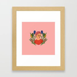Banksia Lady Framed Art Print