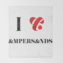I heart Ampersands Throw Blanket