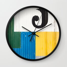 Iceland Abstract Wall Clock