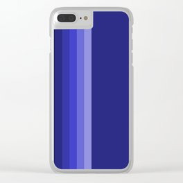 dark blue stipes home decor Clear iPhone Case