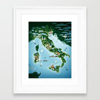 italy Framed Art Prints featuring Italy by Steebz