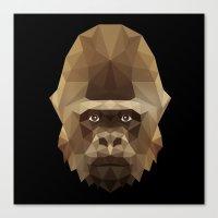 gorilla Canvas Prints featuring Gorilla by Taranta Babu