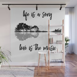 Life Is A Song Nature Guitar Forest Music Lyrics Wall Mural