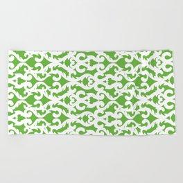 Modern Baroque Green Beach Towel
