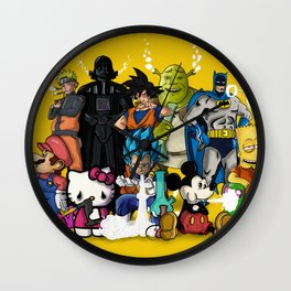 Characters Chilling (yellow) Wall Clock