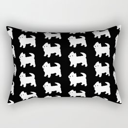 Westie Dog Pattern Rectangular Pillow