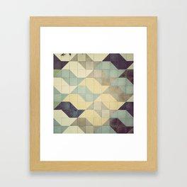 São Paulo Tile Pattern Framed Art Print