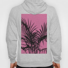 Little palm tree in black with pink Hoody