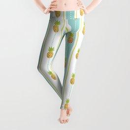 Vintage Glitter Pineapples Leggings