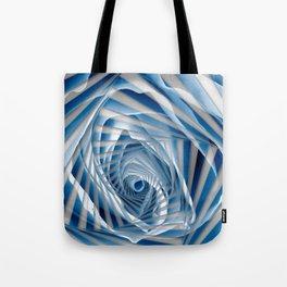 Blue Rose Spiral Tote Bag