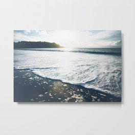 San Fran Sea Foam Metal Print