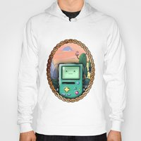 bmo Hoodies featuring BMO!! by SempiternalILLUSTRATIONS