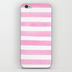 Pink stripes iPhone & iPod Skin