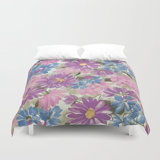 Floral pastel pattern Duvet Cover