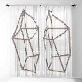 Golden gemstone Sheer Curtain