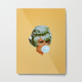 Bubblegum - yellow Metal Print