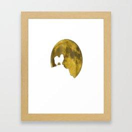 Japanese Chin And Moon Halloween 31st October T-Shirt Framed Art Print