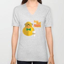 duck nerd power Unisex V-Neck