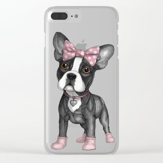 Sweet Frenchie Clear iPhone Case