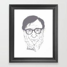 Woody Allen Framed Art Print