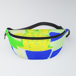 Yellow cactus Fanny Pack
