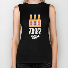 Team Bride Venice 2017 T-Shirt for all Ages D2b70 Biker Tank