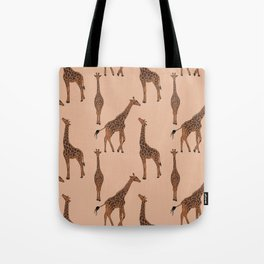 Giraffe neutral pattern Tote Bag