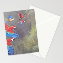 Macaws in Flight Stationery Cards
