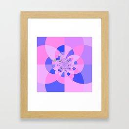 Lavender Purple Blue Kaleidoscope Framed Art Print