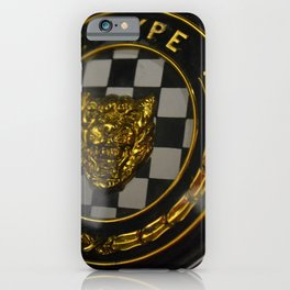 Classic British sports car steering wheel horn button iPhone Case