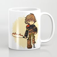 hiccup Mugs featuring Toothless and Hiccup by Willow