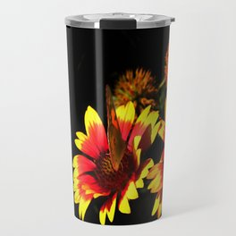 Flowers & Butterfly Travel Mug